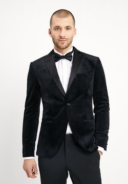 Isaac Dewhirst - FASHION PLAIN JACKET SLIM FIT - Blazer - black