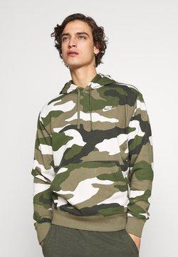 Nike Sportswear - CLUB  CAMO - Sweat à capuche - medium olive/white