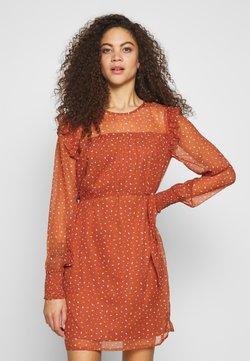 VILA PETITE - VIUTA SHORT DRESS - Day dress - copper brown