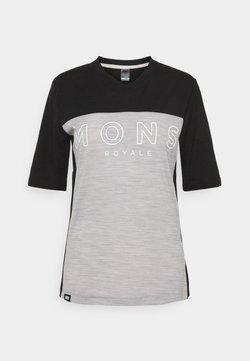 Mons Royale - REDWOOD ENDURO - T-Shirt print - black/grey marl