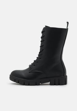 Rubi Shoes by Cotton On - JACQUIE MIDI LACE UP BOOT - Nauhalliset saappaat - black