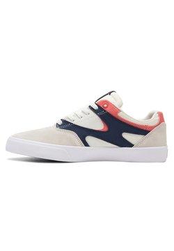 DC Shoes - KALIS VULC - Skateschuh - white/navy/red