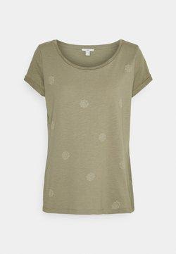 edc by Esprit - SLUB - T-Shirt print - light khaki