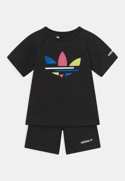 adidas Originals - SHORT TEE SET UNISEX - T-shirt imprimé - black