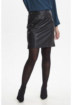 Fransa - FRFALEATHER - Mini skirt - black