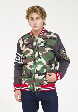 PLUS EIGHTEEN - MIT CAMOUFLAGE-PRINT - Giubbotto Bomber - anthrazit