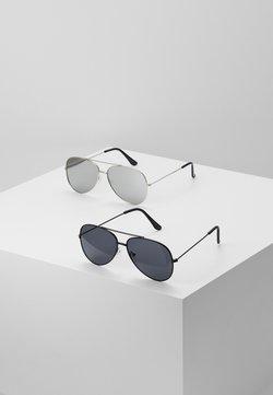 Only & Sons - SUNGLASSES 2 PACK - Gafas de sol - black/silver-coloured