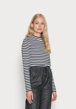 edc by Esprit - FULL NEELDE MOCK NECK STRIPED - Langarmshirt - black