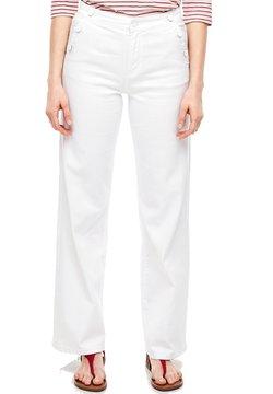 s.Oliver - REGULAR FIT: JEANS MIT ZIERKNÖPFEN - Jeans Straight Leg - white