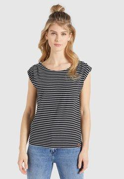 khujo - KAROLA - T-Shirt print - schwarz weiß gestreift