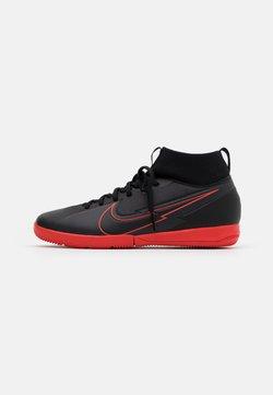 Nike Performance - MERCURIAL JR 7 ACADEMY IC UNISEX - Fotballsko innendørs - black/dark smoke grey