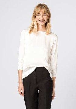 HALLHUBER - MIT SEIDENSATIN - T-shirt à manches longues - crème