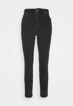Pieces - PCLEAH MOM  - Jeansy Slim Fit - black