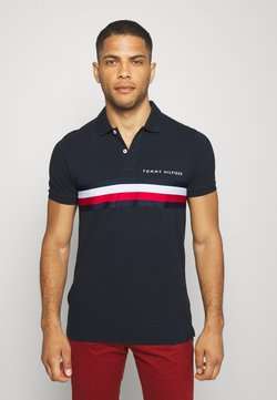 Tommy Hilfiger - GLOBAL CHEST TAPE SLIM - Poloshirt - blue