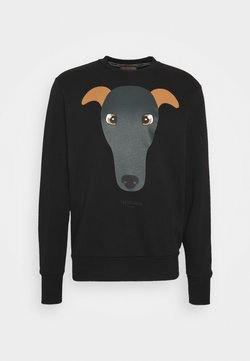 Trussardi - BRUSHED FLEECE REGU - Sweater - black