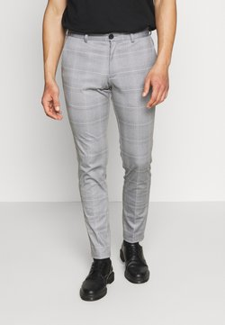 Jack & Jones - JJIMARCO JJPHIL NOR CHECK - Stoffhose - light gray