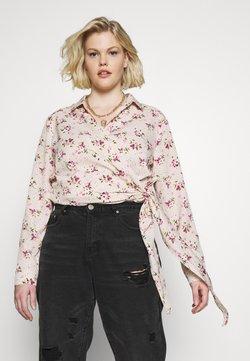 Missguided Plus - FLORAL WRAP TIE - Blouse - pink