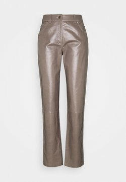 Bally - LEATHER TROUERS - Leather trousers - dove