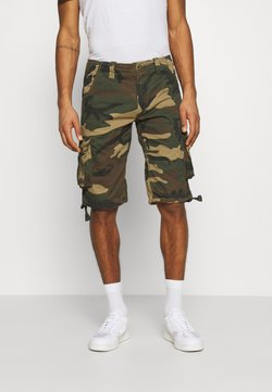 Alpha Industries - JET CAMO - Shortsit - woodland