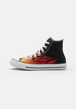 Converse - CHUCK TAYLOR ALL STAR UNISEX - Korkeavartiset tennarit - black/enamel red/fresh yellow