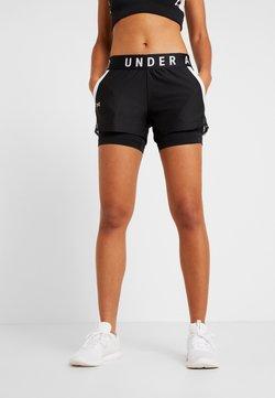 Under Armour - PLAY UP SHORTS - kurze Sporthose - black/white