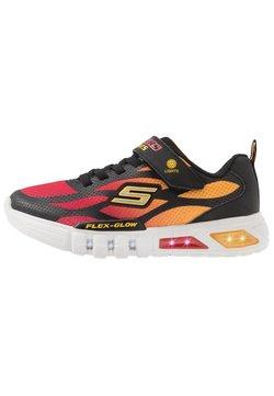 Skechers - FLEX-GLOW - Sneaker low - black/red/orange
