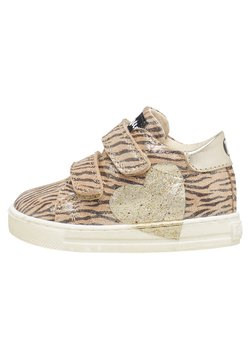 Naturino - MIT ZEBRA-PRINT UND GLITTER-HERZ-P - Sneaker high - gold