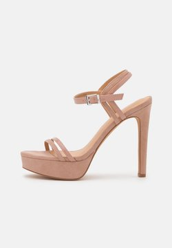 Even&Odd Wide Fit - Sandalias de tacón - nude