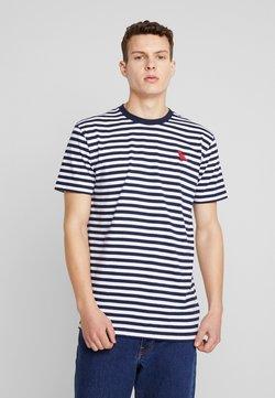 Cleptomanicx - STRIPE - T-shirt imprimé - navy