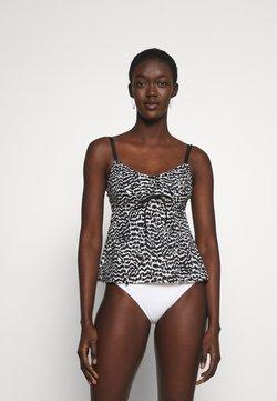 LASCANA - WIRE TANKINI - Bikini-Top - black/creme