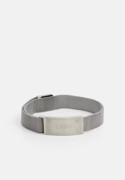 Guess - IDENTITY SHINY TAG UNISEX - Bracelet - silver-coloured