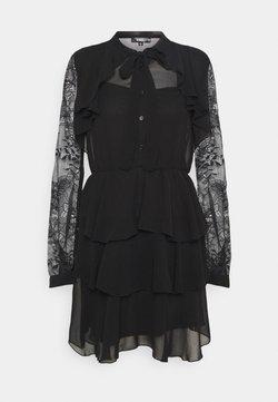 Missguided - SLEEVE FRILL DETAIL DRESS - Paitamekko - black