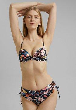 Esprit - MIT PRINT - Bikini-Top - navy