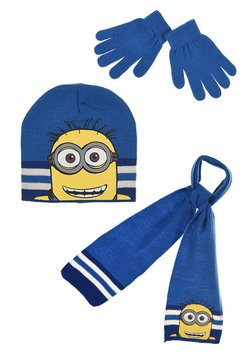 Minions - SET  - Schal - blau
