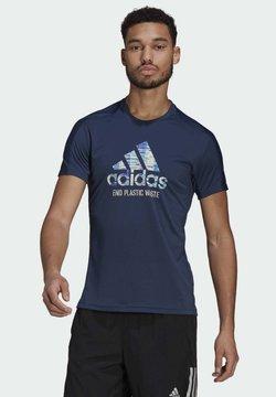 adidas Performance - RUN FOR THE OCEANS GRAPHIC - Camiseta estampada - blue