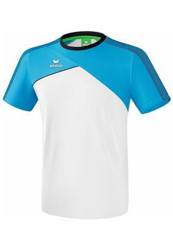 Erima - PREMIUM ONE 2.0 - T-Shirt print - white / light blue