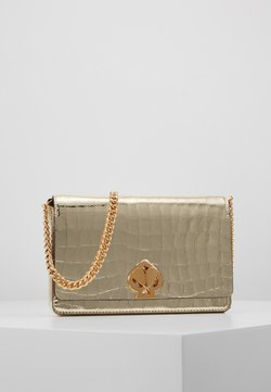 kate spade new york - ROMY CROC EMBOSSED CHAIN  - Torba na ramię - gold