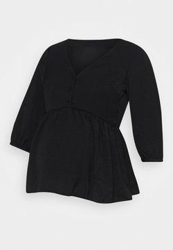 New Look Maternity - BUTTON PEPLUM - Blusa - black