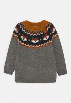 Lindex - MINI FAIR ISLE FOX - Jersey de punto - grey melange