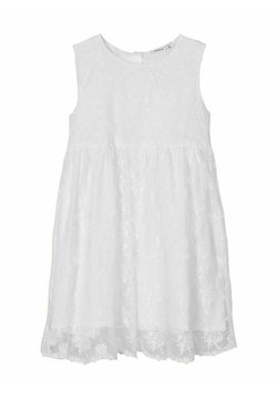Name it - KLEID BLUMENSTICKEREI - Cocktailkleid/festliches Kleid - bright white