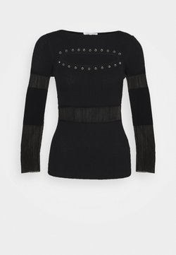 Patrizia Pepe - CUT OUT STUD  - Strickpullover - nero