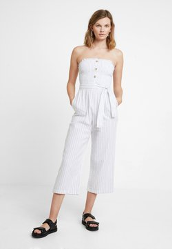 Abercrombie & Fitch - STAPLESS SMOCKED - Combinaison - white