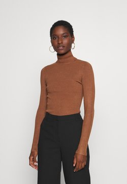 Anna Field - BASIC- RIBBED TURTLE NECK - Strickpullover - brown