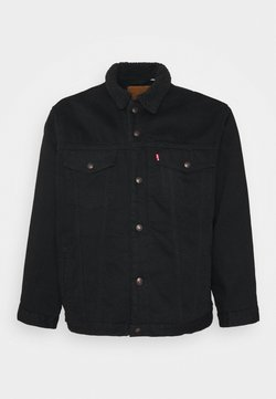 Levi's® Plus - BIG SHERPA TRUCKER - Veste en jean - black denim