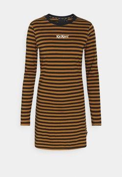 Kickers Classics - STRIPE RINGER DRESS - Sukienka z dżerseju - brown