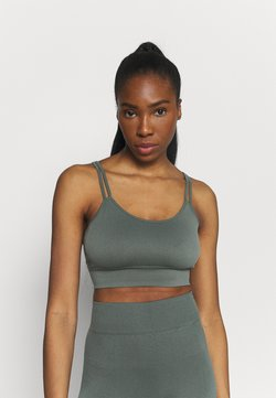 Even&Odd active - SEAMLESS SET - Top - green