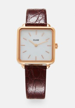 Cluse - LA TÉTRAGONE - Uhr - rose gold-coloured/white pearl/dark red