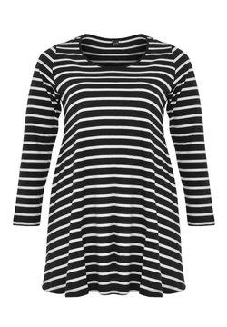 Yoek - Langarmshirt - black / off white