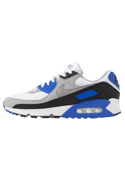 Nike Sportswear - AIR MAX 90 - Sneakersy niskie - white/particle grey/light smoke grey/black/hyper royal