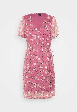 Vero Moda Tall - VMKAY WRAP DRESS - Vapaa-ajan mekko - hawthorn rose